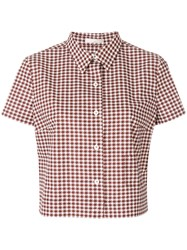 Mantu Houndstooth Shirt Red