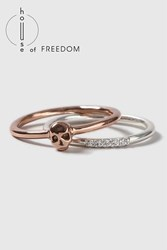 Topshop House Of Freedom Skull Ring Clear