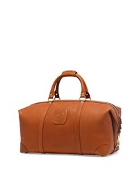 Ghurka Cavalier Iii No. 98 Large Leather Duffel Bag Chestnut Brown
