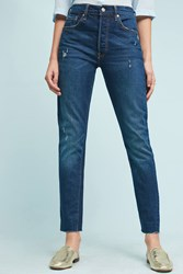 Anthropologie Levi's 501 Ultra High Rise Skinny Jeans Denim Dark