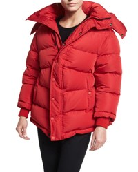 Balenciaga Quilted Puffer Coat Red