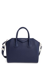 Givenchy 'Small Antigona' Sugar Leather Satchel Blue Navy