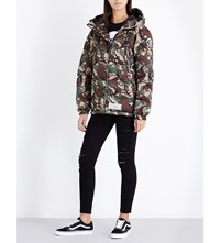 Aape By A Bathing Ape Camouflage Print Padded Shell Puffa Jacket