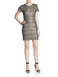 Collective Concepts Sparkle Knit Mini Dress Gold