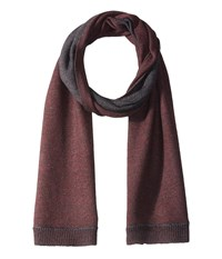 John Varvatos Jersey Whip Stich Cherrywood Scarves Brown