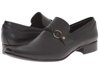 Massimo Matteo Mocc With Woven Lace Black Men's Slip On Dress Shoes