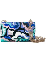 Emilio Pucci Abstract Print Shoulder Bag Pink And Purple