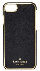 Kate Spade New York Leather Inlay Iphone 7 Case Black