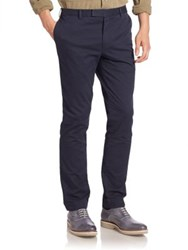 Ralph Lauren Blue Label Solid Straight Leg Flat Front Pants Navy