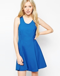 Wal G Fit And Flare Dress Electricblue