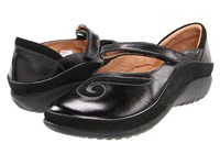 Naot Footwear Matai Black Madras Leather Black Suede Women's Maryjane Shoes Gray