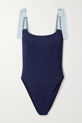 Karla Colletto Giselle Two Tone Swimsuit Navy