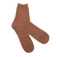 Anonymous Ism Brown Cable Crew Socks