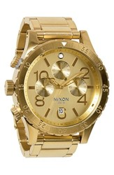 Nixon 'The 48 20' Chronograph Watch 48Mm Gold