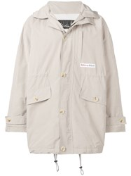 Martine Rose Hooded Padded Parka Jacket Neutrals