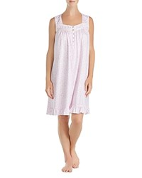 Eileen West Sleeveless Short Gown Pink White