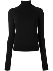 Dsquared2 Ski Turtleneck Jumper Women Wool M Black