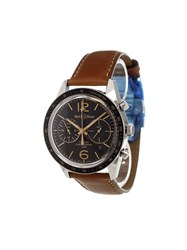 Bell And Ross 'Gmt Flyback' Analog Watch Stainless Steel