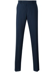 Paul Smith Straight Leg Trousers Men Cotton Polyester Wool 34 Blue