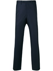 Kiton Tailored Trousers Wool Blue
