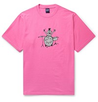 Noon Goons Printed Cotton Jersey T Shirt Pink