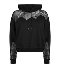 Mcq By Alexander Mcqueen Lace Detail Hoodie Female Black