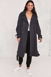 Kimchi And Blue Clemmie Trench Coat Navy