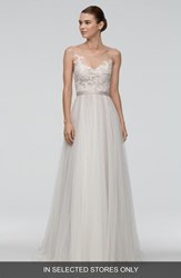 Watters Azriel Illusion Neckline Lace And Net A Line Gown