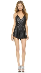 Bec And Bridge Vagabond Leather Romper Black