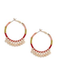 Design Lab Lord And Taylor Embellished Hoop Earrings Multi