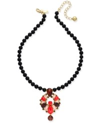 Kate Spade New York Burst Into Bloom Gold Tone Beaded Boho Collar Necklace Multi