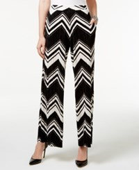 Ny Collection Wide Leg Soft Pants Black White