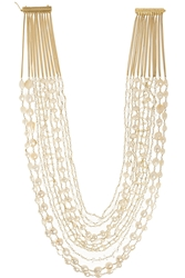 Rosantica Gold Dipped Freshwater Pearl Multi Strand Necklace