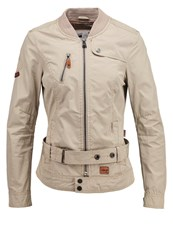 Khujo Gloss Summer Jacket Pebble Beige