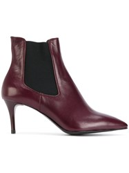 P.A.R.O.S.H. Stiletto Heel Chelsea Boots Leather Rubber Pink Purple