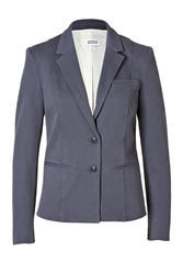 Closed Cotton Horse Blazer In Dark Denim Blue
