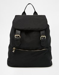 Asos Nylon Backpack With Chain Straps Multi