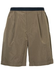 Kolor Fitted Waistband Shorts Brown