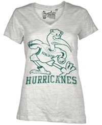 Royce Apparel Inc Women's Short Sleeve Miami Hurricanes T Shirt White
