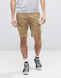 Timberland Cargo Shorts Regular Fit Stretch Garment Washed In Beige