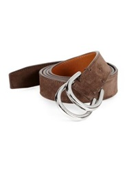 Ralph Lauren Stirrup D Ring Belt Dark Brown