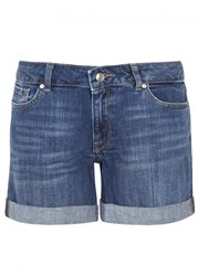 Dl1961 Karlie Stretch Denim Shorts Dark Blue