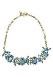 Banana Republic Jeweled Bug Necklace Blue