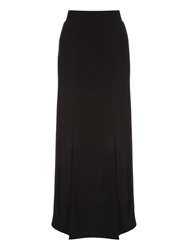 Jane Norman Double Split Maxi Skirt Black
