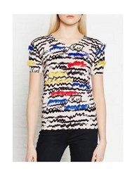 Karl Lagerfeld Fringe Scribble Top Multi