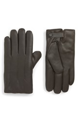 Ted Baker London Leather Gloves Chocolate