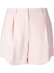 Lala Berlin 'Malo' Pleated Shorts Pink And Purple