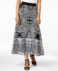Inc International Concepts Petite Paisley Print Maxi Skirt Only At Macy's Ace Paisley
