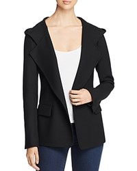 Dkny Hooded Stretch Wool Blazer Black