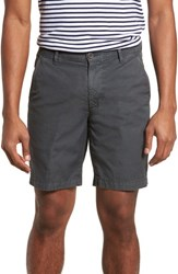 Ag Jeans Wanderer Slim Fit Cotton And Linen Shorts Sulfur Smoke Grey